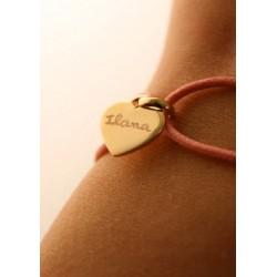Bracelet Cordon Médaille Coeur
