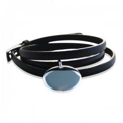 Bracelet triple tour cuir