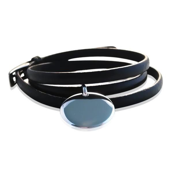 Bracelet Cuir Médaille Charm's