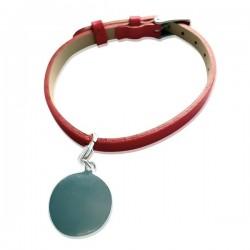 Bracelet Gravé Cuir couleur