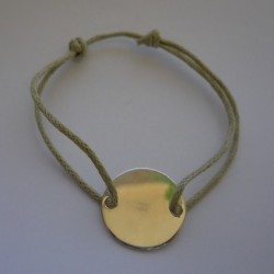 Bracelet petite médaille à graver