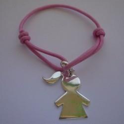 Bracelet médaille fille gravée