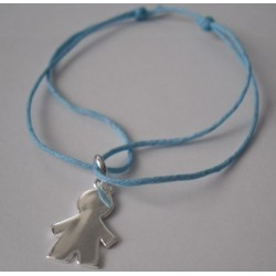 Bracelet médaille garçon gravée