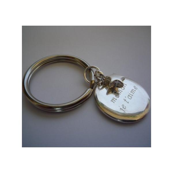 Porte clés anneau rond
