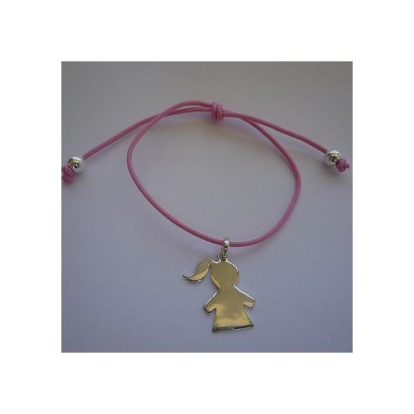 Bracelet gravé medaille bébé