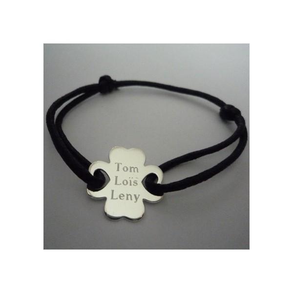 Bracelet médaille trèfle