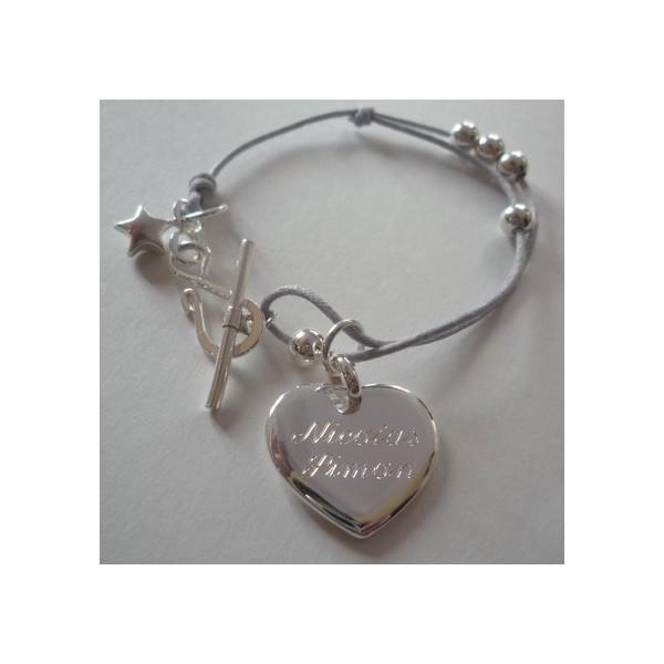 Bracelet perles et fermoir S
