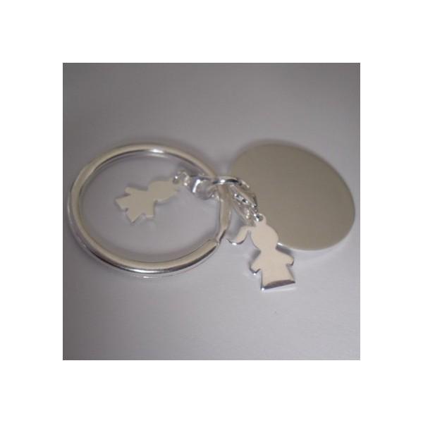 Porte clé Médaille & Silhouettes