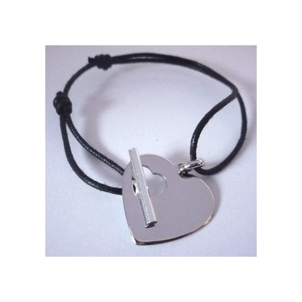 Bracelet coeur fermoir T