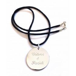 Collier personnalisé Médaille Argent