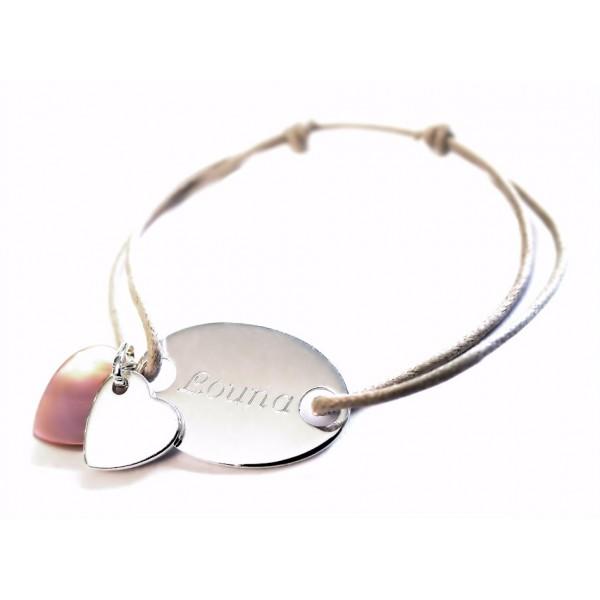 Bracelet Gourmette et Nacre