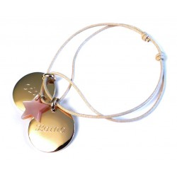 Bracelet Médaille Et Nacre