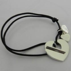 Bracelet Coeur percé avec Fermoir T