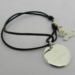 Bracelet Médaille et Ange