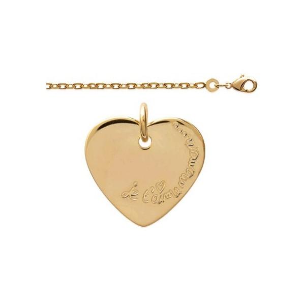 """Bracelet """"Je t'aime Maman"""" en Plaqué Or"""