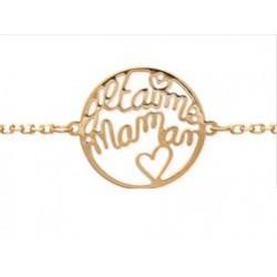 """Bracelet """"Je t'aime Maman"""" Plaqué or"""