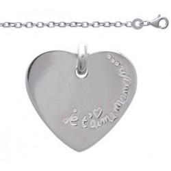 Bracelet Maman Je t'Aime et Pierre