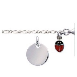 Bracelet coccinelle avec sa médaille